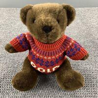 Ralph Lauren Polo 2000 Stuffed Teddy Bear Red Snowflake Sweater Jointed Plush
