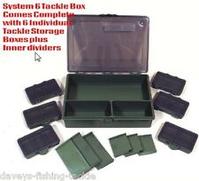FISHING TACKLE BIT BOX SYSTEM 1 LARGE 6  SMALL FOR HOOKS SWIVELS RIGS SHOT BEADS