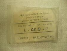 """OffSet Link Single L-08 B-1 Din 8187/BS 12.7mm ( 1/2"""" ) Pack Of 10"""
