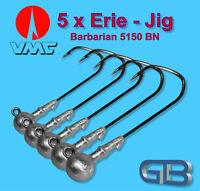 5 x VMC Barbarian Jig 5150 BN 4/0 - 10g Jigkopf Jighaken Eriekopf Bleikopf.