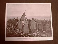 WW1 Prima guerra mondiale 1914-1918 Bandiera reggimento medaglia 1917 e Porro