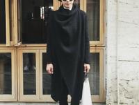 Men Korean Irregular Personality Woolen Coat Jacket Cape Cloak Loose Chic Ths01