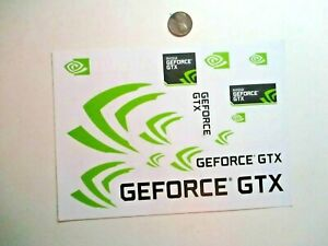 Nvidia Geforce GTX 7-1/8 Inch Sheet -13- Original Genuine Decal PC Case Stickers