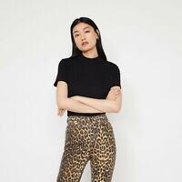 Warehouse Funnel Neck T-Shirt Black UK Size 16 VR221 06