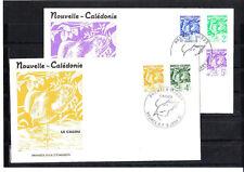 Nouvelle-Calédonie   enveloppe  série courant  le cagou   1990