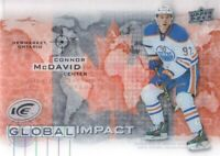2015-16 Upper Deck Ice Global Impact #GI-CM Connor McDavid Edmonton Oilers
