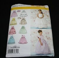 New Simplicity Flower Girl Dress size 3 4 5 6 Princess Sewing Pattern Formal -C=