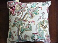 NWT RALPH LAUREN 'ANTIGUA' FLORAL DECORATIVE BED PILLOW w GOOSE FEATHER FILL