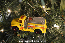 Custom Highway Rescue Fire Truck Pumper Christmas Ornament 1/64 Scale Adorno