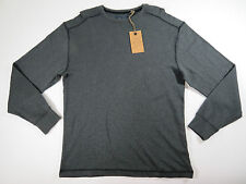 Crew neck Shirt X-Large Roundtree & Yorke Casuals Mens Grey Long Sleeve
