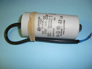 35uF Motor Run Capacitor 450V, Twin Cable