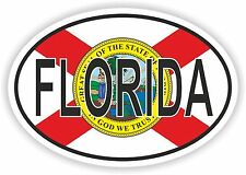 OVAL FLORIDA STATE WITH FLAG USA STICKER AUTO MOTO TRUCK LAPTOP BIKE CAR