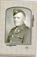 Antique Studio Photo - Minot North Dakota- Military Man