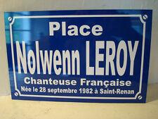 NOLWENN  LEROY plaque de rue objet collector edition limitée cadeau original