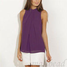 Summer  Women Sleeveless Chiffon Vest Womens T Shirt Blouse Loose Top plus size
