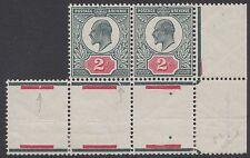 SG 291 2d Deep Dull Green & Carmine M13(2) inter pane pair H4c D4 Unmounted Mint