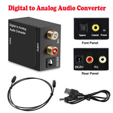 Fiber Optical Coaxial Toslink Digital to Analog Audio Converter Adapter L /R RCA