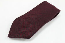cravatta tie krawatte PETRONIUS pois magenta 100% lana wool (673)