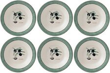 "WEDGWOOD SARAHS GARDEN (GREEN) 6 PASTA BOWLS 28cm/11"" - NEW/UNUSED (SARAH'S)"