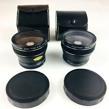 Lot of 2 Fujiyama Semi Fish-Eye Lens 55mm & 43mm SER VII with Case Made in Japan