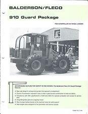 Equipment Brochure - Balderson Fleco - Guard for Cat 910 Loader 2 items (E3682)