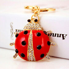 Ladybird Animal Insect Crystal Diamante Rhinestone Bag Charms Handbag Keyrings