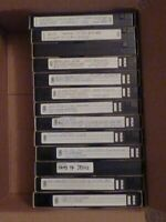 Lot Of 13 Pre-Recorded Mixed Label VHS Tapes Sold As Used Blank T-120 (J0 00Z)