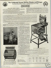 1924 PAPER AD Geyser Electric Washing Machine Family Size Wringer Specs Prices