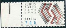1990 Repubblica varietà Saffi rosso cert nuovo integro spl ** cert ORO Raybaudi