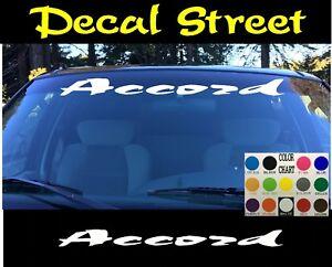 Honda Accord  Windshield Banner Visor Die Cut Vinyl Decal Sticker JDM Racing