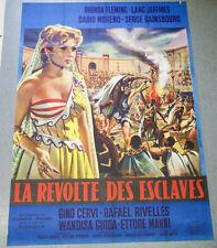 Affiche de cinéma : LA REVOLTE DES ESCLAVES de Nunzio MALASOMMA