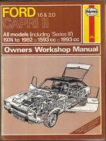 Ford Capri II including Series III 1974-1982 Haynes Owners Workshop Manual