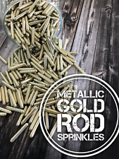 Metallic Gold Rods Edible Long Gold Shiny Unicorn Horn cupcake Sprinkles Cake