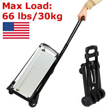 Portable Mini Folding Luggage Cart Collapsible Trolley Luggage Shopping Cart NEW