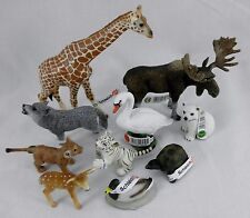 NEW! Schleich Africa Safari Wild Animal Zoo LOT Giraffe Lion Tiger Wolf Birds