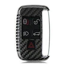Carbon Fiber Remote Flip Key Fob Holder Skin Shell Case For Land Rover Series