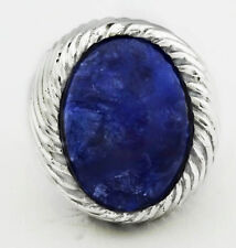 GENUINE 12.82 Cts LAPIS LAZULI RING .925 Sterling Silver ** 16.81 Grams *NWT