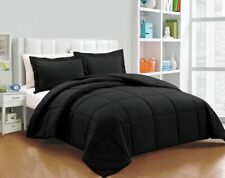 Branded Down Alternative Comforter Egyptian Cotton Black Solid Cal King Size