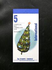 TIMBRES DU CANADA : 1992 CARNET DE 5 TIMBRES INTERNATIONAL THEME DE NOËL ** TBE