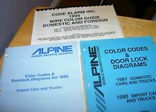 New listing 1988,1990,1991,1994 Color Codes & Door Lock Diagrams for Vehicle Security Alarms