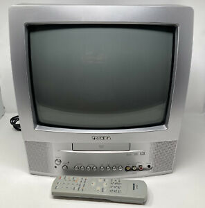 Toshiba MD13P3 13 Inch CRT TV Television DVD Combo Gaming TV w/Remote ✅WORKS!