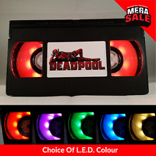 📼 Retro USB VHS Lamp | LED Mood Night Light, Marvel Deadpool Xmas Gift
