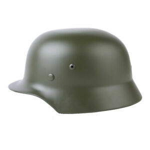 WWII German Elite M35 Helmet Steel Stahlhelm Armor ET68 Combat Retro Replica