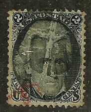 DEALERS CHOICE! U.S. 1867 Classic Stamp with Grill 2c Jackson WYSIWYG Lot NoRes
