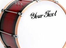 2X CUSTOM VINYL DECAL. for Drum, Guitar, sax case. CHOOSE COLOUR & FONT