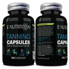 TANNING TABLETS 100 CAPSULES | SAFE AND HEALTHY NATURAL DEEP TAN BOOSTER