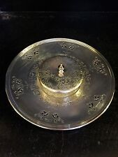 Vintage Pierced Primrose Silver Plate E. P. Copper Horsdoeuvres Platter and dish