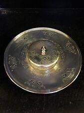 Vintage Pierced Primrose Silver Plate E. P. Copper Horsdoeuvres Platter and dish