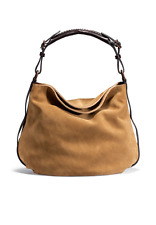 NEW UGG AUSTRALIA WOMEN'S SUEDE LEATHER HERITAGE HOBO HAND BAG CHESTNUT