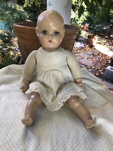 Antique 1930's 18 inch Madame Alexander Doll Composition Head, hands and feet